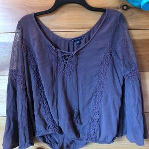 Purple American eagle blouse